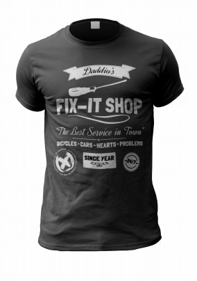 Personalised Dad T-Shirt - Daddio's Fix-it Shop
