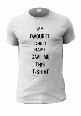 My Favourite Child Personalised Men's T-Shirt