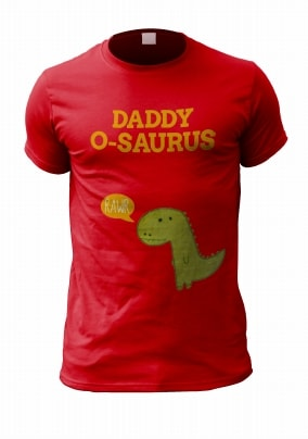 Daddy-O-Saurus Personalised Men's T-Shirt