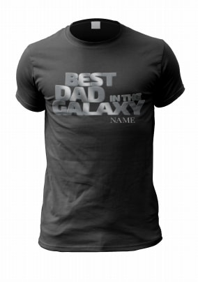Best Dad In The Galaxy Personalised T-Shirt
