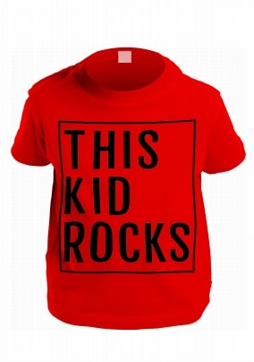 This Kid Rocks Personalised T-Shirt