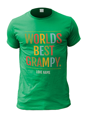 Worlds Best Grampy Personalised T-Shirt