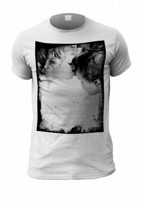 Personalised Photo Upload Black Grunge T-Shirt