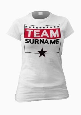 Personalised Family Team Women's T-Shirt