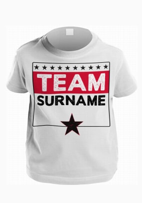 Personalised Family Team Kid's T-Shirt
