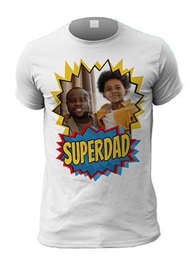 Superdad Photo Upload T-shirt