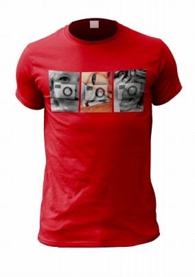 Three Photo Upload Personalised T-Shirt