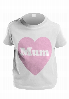 Pink Heart Personalised Kid's T-Shirt