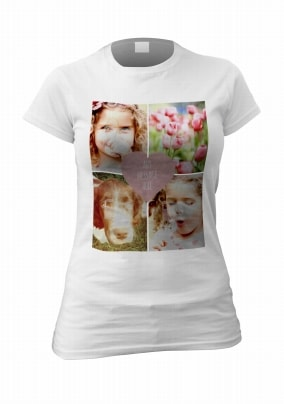 Personalised Four Photo Upload Women's T-Shirt