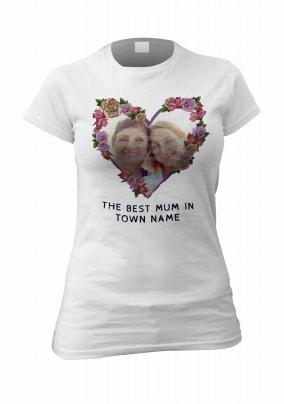 Roses & Heart Women's Personalised Photo T-Shirt