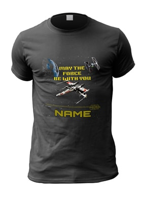 May the Force Be With You Personalised Star Wars T-Shirt
