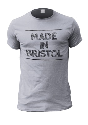 Made in Bristol Adult Personalised T-Shirt