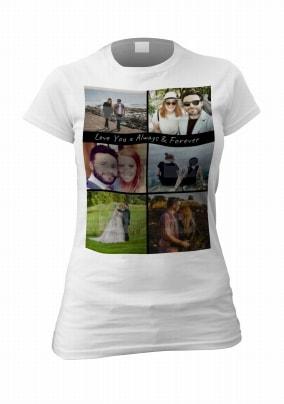 Newlyweds Romantic Personalised Photo T-Shirt