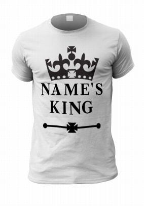 Personalised King Men's T-Shirt