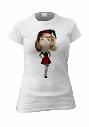 Funny Elf Woman's Personalised Photo T-Shirt