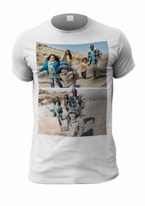 2 Photo Upload Personalised Men's T-Shirt