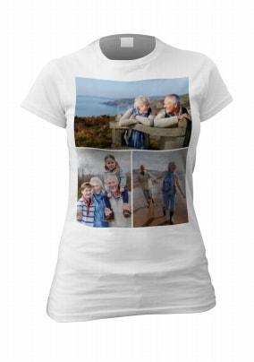 3 Photo Upload Womens T-Shirt