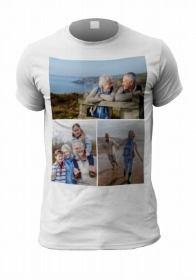 Personalised 3 Photo Upload Men's T-Shirt