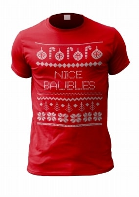 Nice Baubles Personalised T-Shirt