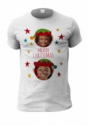 Merry Christmas Two Photo T-Shirt