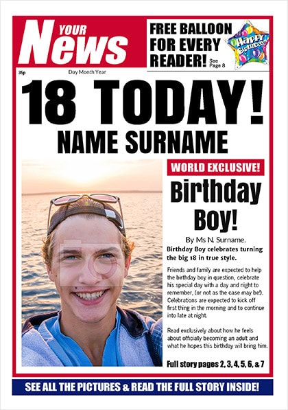 Spoof Poster - His 18th