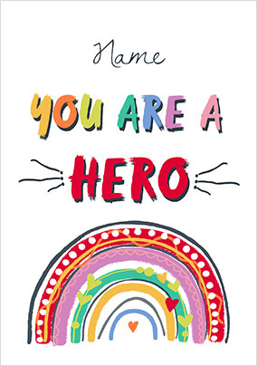 You are a Hero Personalised Poster
