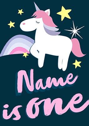 1st Birthday Unicorn Personalised Poster