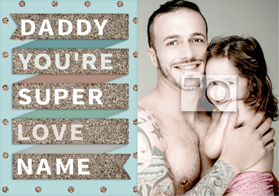 To the Stars - Super Dad Poster