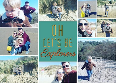 Let's Be Explorers Multi-Photo Poster