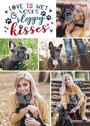 Sloppy Kisses Dog Multi Photo Large Poster