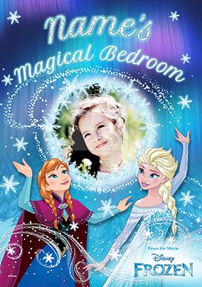 Elsa & Anna Bedroom Poster - Disney Frozen
