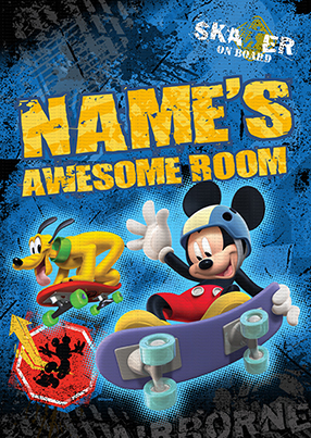 Mickey Mouse - Awesome Skater Large Poster