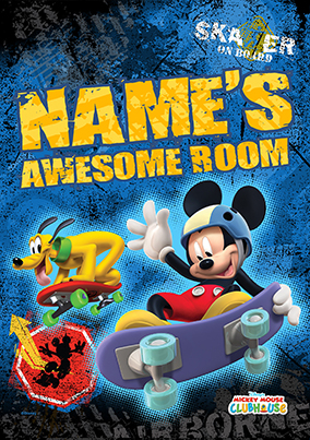 Mickey Mouse Awesome Skater Poster