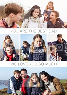 The Best Dad Photo Upload Poster