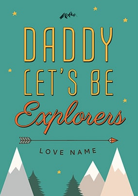 Daddy Let's Be Explorers Personalised Poster