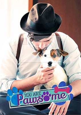 Pawsome Dog Photo Poster