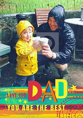 Love You Dad Rainbow Photo Poster