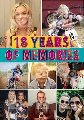 18 Years Of Memories Photo Poster