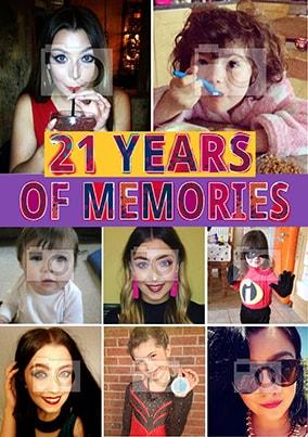 21 Years Of Memories Photo Poster