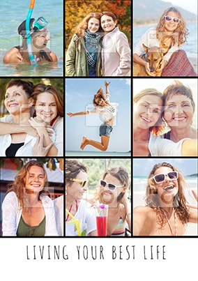 Best Life Multi Photo Poster