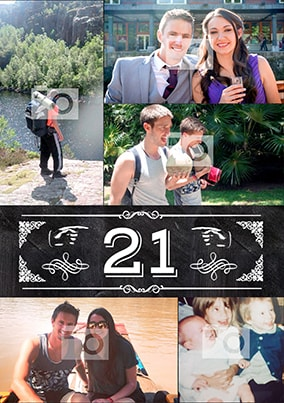 21st Multi Photo Poster