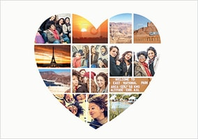 Heart Collage Photo Upload Poster