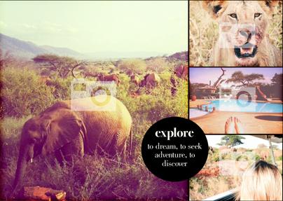 Travel Themed Photo Landscape Large Poster
