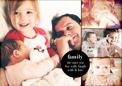 Family Photo Upload Landscape Large Poster