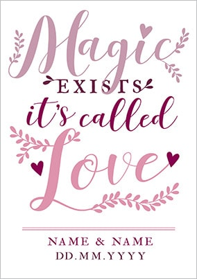 Magic Exists it's called Love Poster