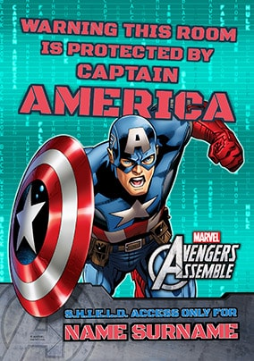 Protected by Captain America Poster - Marvel Aveng