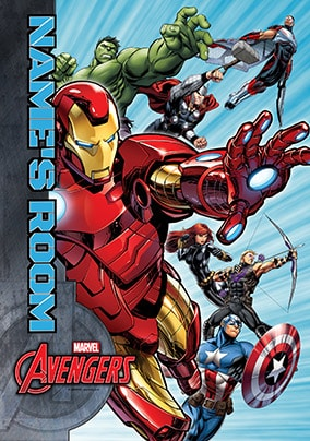 Marvel Avengers Group Poster - Personalised