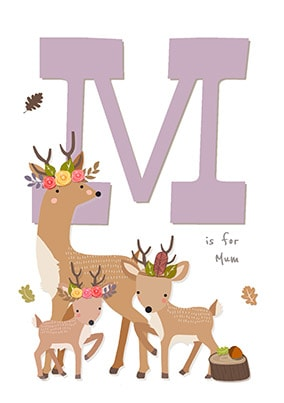 M Is For Mum Personalised Poster