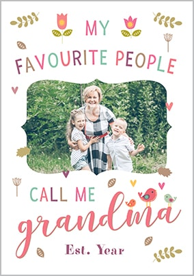 Call Me Grandma Photo Poster