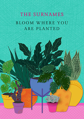 Bloom Where You are Planted Personalised Poster
